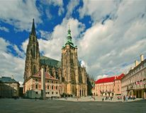 Prague-st.Vitus cathedral Stock Photography