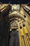 Prague. St. Vitus cathedral in darkness. Royalty Free Stock Image