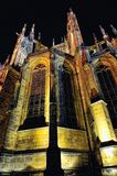 Prague. St. Vitus cathedral in darkness. Royalty Free Stock Photography