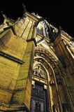 Prague. St. Vitus cathedral in darkness. Royalty Free Stock Images