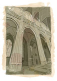 Prague St. Vitus Cathedral interior Stock Photos