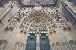 Prague, St. Vitus Cathedral main entrance Stock Photography