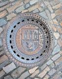 Prague stadsavklopp arkivfoto