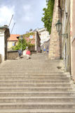 Prague. Stairs to the cathedral of Saint Vitus Royalty Free Stock Photo