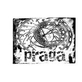 Prague Stamp. A stamp of the capital of Czech Republic, Prague Royalty Free Stock Photos
