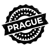 Prague stamp rubber grunge Royalty Free Stock Images