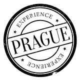 Prague stamp rubber grunge Stock Photos