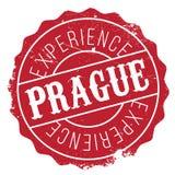 Prague stamp rubber grunge Royalty Free Stock Photos