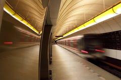 Prague - station in underground Stock Image
