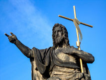 Prague statue. Statue on the charles bridge in prague Stock Photography