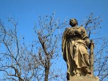 Prague, statue de pont de Charles Image libre de droits