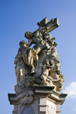 Prague - statue of st. Luitgarda on the Stock Photos