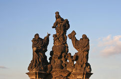 Prague Statues Royalty Free Stock Photography