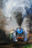 Prague steam train Stock Photo