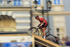 Prague Steps bike race 2014 Stock Images