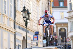 Prague Steps bike race 2014 Stock Photography