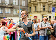 Prague stolthet 2015 royaltyfria foton