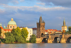 Prague  before the storm Stock Photography