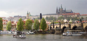 Prague for the storm Stock Image
