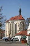 Prague Strahov kloster, kyrka av St Rochus i Prague, Tjeckien royaltyfria bilder