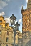 Prague street. Beautiful street in old prague city at daylight Stock Photography