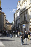 Prague street Royalty Free Stock Photo