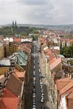 Prague - street and church on vysehrad Royalty Free Stock Image