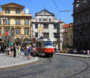 Prague Street corner Stock Images