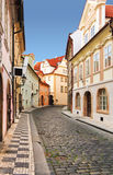 Prague street, czech republic. Royalty Free Stock Images