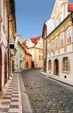 Prague street, czech republic. Royalty Free Stock Images