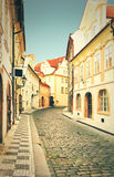 Prague street, czech republic. Stock Photo