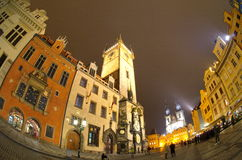 Prague_2. A street of Prague at night Royalty Free Stock Photo