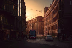 Prague street. Public buildings in the city of Prague old town Stock Images