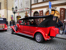 Prague Street Scene, Sightseeing Tours Stock Photography