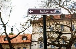 Prague street sign Royalty Free Stock Photo