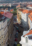 Prague street view from above Stock Photo