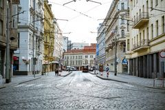 Prague street view stock photography