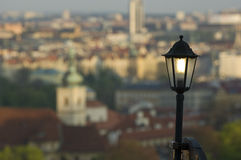 prague streetlight Royaltyfria Foton