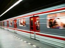 Prague subway. Subway in Prague, capital of Czech republic, Můstek station Royalty Free Stock Images