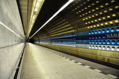 Prague subway Stock Photography