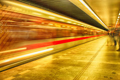 Prague subway in the night Royalty Free Stock Photography