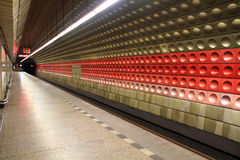 Prague subway station Royalty Free Stock Photo
