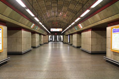 Prague subway station Stock Photo