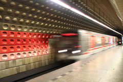 Prague subway station Royalty Free Stock Photos