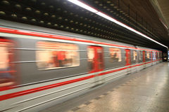 Prague subway station Stock Photography