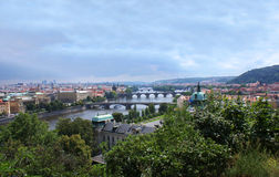 Prague summer panorama Stock Photography