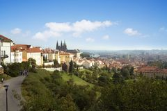 Prague summer panorama Stock Photo