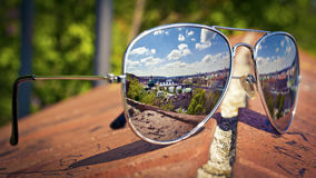 Prague in sunglasses Stock Photo