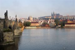 Prague by sunrise Royalty Free Stock Photography