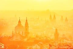 Prague at the sunrise Stock Photos